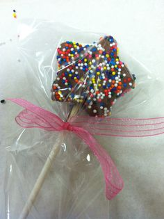 Chocolate Star-Shaped Cake Pop from Small Indulgences!