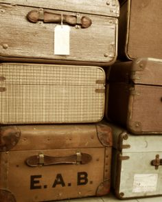 Vintage luggage is very popular right now. You can use it in so many ways, especially if you have multiple cases. You can find these at your local thrift shop or antique store.