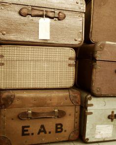 vintage luggage :)