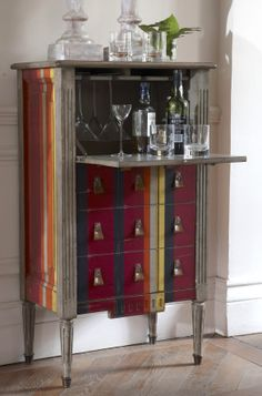 Beautiful Liquor Cabinet with Lock and Key