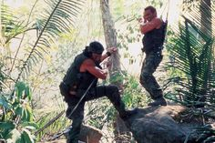Arnold Schwarzenegger and Sonny Landham in Predator Predator Movie, Sonny Landham, Stephen Hopkins, Movie Titles, Arnold Schwarzenegger, Bad Timing, Special Forces, Central America, Movies