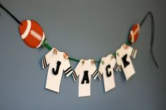 Football Birthday Party Banner Sports by TakeitPersonallybyM, $25.00