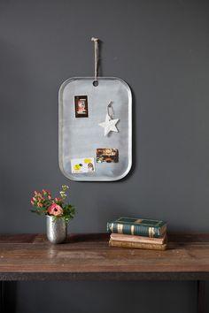 Zinc Memo Board, £20, Rose and Grey