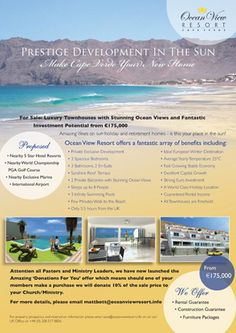 Advert in magazine advertising for Cape Verde Properties