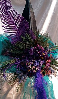 Lisa's Bouquet Witch hat. This might be almost unwearable, but what an explosion of color and texture!