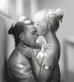 """annaoi: """"This is for Day 3 of LuNyx Week ( for the Gestures of Love prompt. Another Modern AU drawing. """"""""She brushes his hair with her gentle fingers. But her soft lips touched his forehead. Final Fantasy Artwork, Final Fantasy Characters, Final Fantasy Xv, Fantasy Love, Dark Fantasy Art, Nyx Ulric, Signo Libra, Body Poses, Couple Art"""