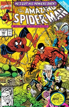 Cover for The Amazing Spider-Man (Marvel, 1963 series) #343 [Direct Edition]