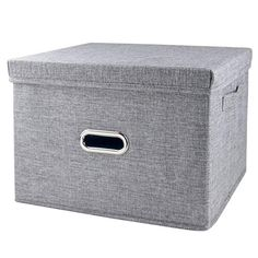 iLoft Storage Cube with Lid, Fabric Basket Bin with Dual Handles, Decorative Linen Storage Container Clothes Basket for Closet, Shelves, x x Grey Jewelry Studio Space, Clothes Basket, Fabric Basket, Linen Storage, Closet Shelves, Cube Storage, Storage Containers, Amazon, Grey