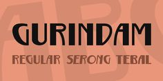 New free font 'Gurindam' by Gunarta · Free for commercial use · #freefont #font