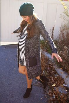 Pregnancy winter fall style