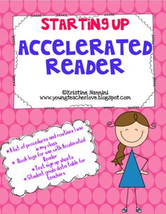 Our school is required to use Accelerated Reader. In order to make this mandatory program fun, I decided to throw away reading logs, and use AR point goals instead. I love giving students Accelerat. Reading Resources, Reading Strategies, Teaching Reading, Reading Lessons, Guided Reading, Teaching Ideas, Reading Art, Learning, 4th Grade Classroom
