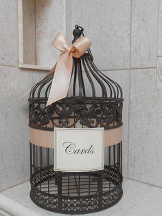Birdcage Wedding Card Holder / Card Box / Wedding Birdcage Cardholder / DIY Birdcage Kit / DIY Wedding