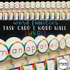 4 Reasons to Switch to a Portable Word Wall - Kindergarten Korner Word Wall Kindergarten, Kindergarten Lessons, Sentence Writing, Writing Words, Writing Ideas, Sound Words, E Words, Rainbow Words, Neon Rainbow