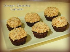Low carb, grain free, gluten free and sugar free German chocolate cupcakes with coconut pecan frosting? YES PLEASE! Just 4.25 g net carbs apiece!