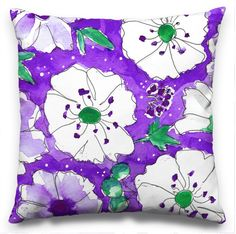 Pen Jar Productions is the surface design studio of Alison Garwood-Jones, a Toronto-based illustrator, writer, and former Elle editor. Art Desk, Pillow Design, Surface Design, Florals, My Arts, Donny Osmond, Jar, Throw Pillows, Purple