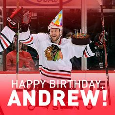 Save a piece of cake for us, Desi! #Blackhawks