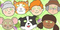 The Enormous Turnip Role Play Masks - role-play, turnip, masks The Big Carrot, Preschool Activities, Activities For Kids, Story Sack, Sequencing Cards, Traditional Tales, School Themes, School Ideas, Jack And The Beanstalk