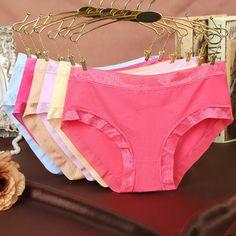 c59c74099d99 US $2.3 |Aliexpress.com : Buy New Women Underwear Women's Cotton Briefs  Candy Color Luxurious Lace Panties Low Rise Fashion Sexy Ladies Girls  Panties ...