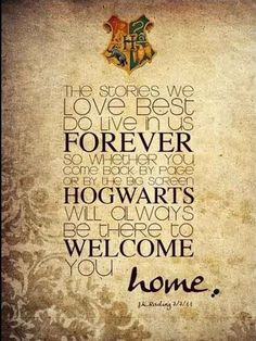 hogwarts will always be there to welcome you home | Tumblr