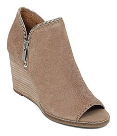 Lucky Brand Jakobie PeepToe Wedge Booties #Dillards