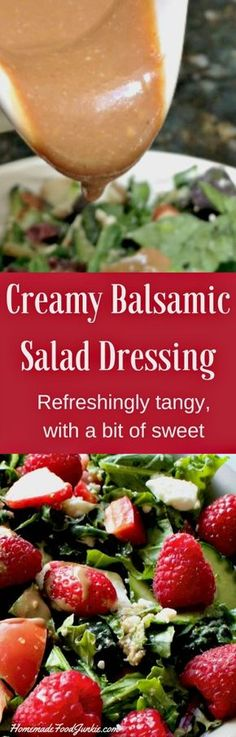 Creamy Balsamic Salad Dressing is made with nutritious ingredients. Splendid flavor!