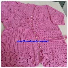 Pink crochet cardigan
