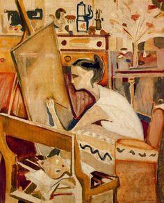 lilithsplace:    'La Greca' - Arpad Szenes(1897–1985)