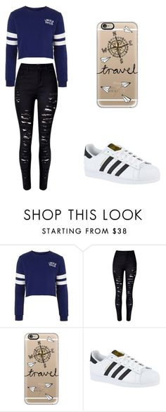 """""""Sin título #172"""" by karenrodriguez-iv on Polyvore featuring moda, Topshop, WithChic, Casetify y adidas"""