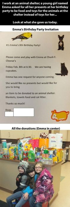 Random Act of Kindness - Asking for animal shelter supplies instead of birthday presents