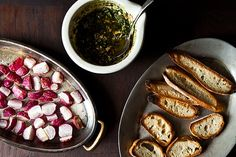 Roasted Radishes with Almond Salsa Verde recipe on Food52