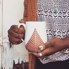 Ceramic Mug - Oversized Jumbo Mug -Terracotta Red Clay Mug - Handmade Modern Simple Minimal Pottery by PotterybyOsa on Etsy https://www.etsy.com/listing/262656849/ceramic-mug-oversized-jumbo-mug