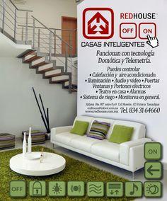 """Diseño Editorial, iconos y fotografía para """"RED HOUSE"""" Casas Inteligentes.  Autor: Armando Aguayo Rivera https://www.facebook.com/pages/ArmandoH2O/119102444841642"""