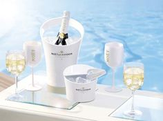 Moet champagne on ice - a favourite of aden + anais CEO and co-founder, Raegan Moya-Jones