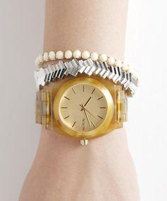 NIXON-WATCH(ニクソンウォッチ)のTHE TIME TELLER ACETATE(腕時計)|ゴールド系その他