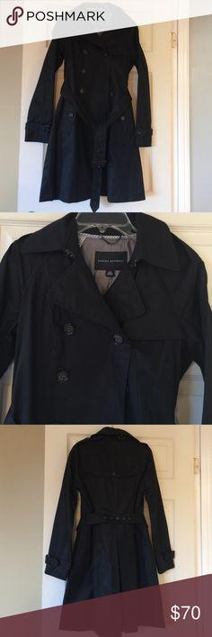 Banana Republic black trench coat Like new Banana Republic black trench coat. Only worn once. Banana Republic Jackets & Coats Trench Coats