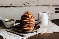 beautefragile:Pastry Affair:  Apple Cinnamon Pancakes