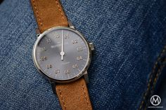 Hands-on - MeisterSinger Phanero - Baselworld 2016 (live pics & price) Baselworld 2016, Monochrome Watches, Elegant Watches, Hands, Amp, Live, Leather, Accessories, Ornament