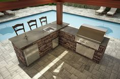 l shaped outdoor kitchen - Google Search