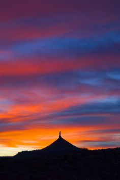 Sunset near Canyonlands NP
