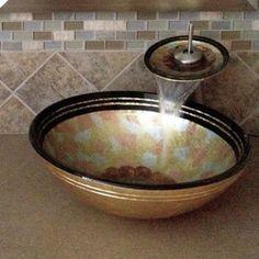 Novatto Celebrazione Glass Vessel Bathroom Sink