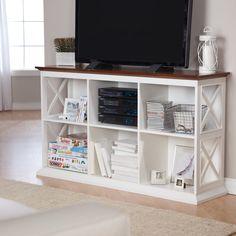 Belham Living Hampton Console Tv Stand - White/oak