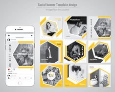 Discover thousands of Premium vectors available in AI and EPS formats Instagram Feed Layout, Instagram Grid, Instagram Post Template, Instagram Design, Social Media Ad, Social Media Template, Social Media Design, Social Media Graphics, Page Layout Design