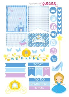 Disney CINDERELLA Inspired Weekly theme planner by PlanwithPizazz