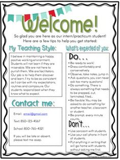 Teacher Chicks Welcome Letter To Students And Parents