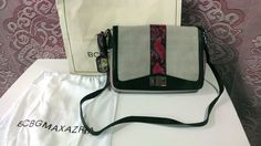 Straight from the runways! Designer Max Azria's canvas Riley bag, less than half retail!  Get it today, don't miss having this under your tree! NWT BCBG MAX AZRIA RILEY CANVAS SHOULDER DAY BEIGE BAG PINK PYTHON DUST BAG RARE #BGBCMAXAZRIA #ShoulderBag