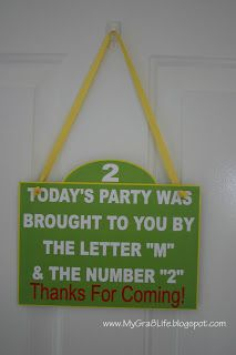 Elmo Party - awesome sign for attention to detail #SesameStreetParty @Nicole Mammucari