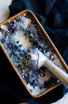 The most beautiful blueberry ice cream you ever did see.