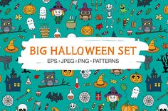 Big Halloween Set By Redchocolate Illustration