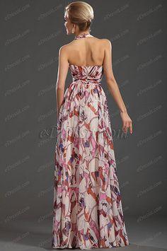 eDressit New Gorgeous Printed Halter V-neckline Evening Dress (00132668)
