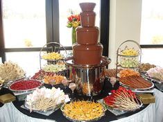 Wedding Reception Food NJ Kosher Catering, New Jersey Caterer, Bar Mitzvah Catering, Wedding Catering, Corporate Catering Chocolate Fountain Bar, Chocolate Fountains, Wedding Reception Food, Wedding Catering, Cake Pops, Catering Display, Catering Buffet, Catering Ideas, Food Stations